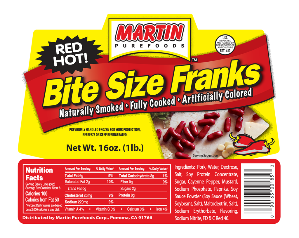 Red Hot Bite Size Franks