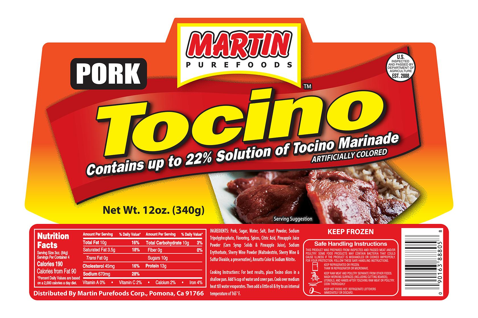 Pork Tocino 12 oz. – Martin Purefoods Corporation
